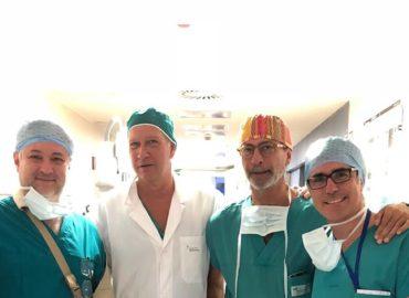 Dr. Fabio Peralta foi convidado para realizar em Milão a primeira correção da mielomeningocele.